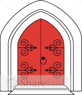Castle clipart doorway Church Doors in Church Clipart