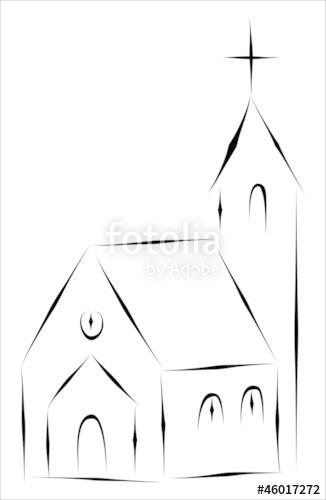 Drawn church Files on sketch