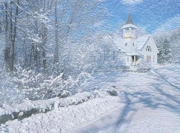 Winter clipart church scene Church Clipart Winter Free scene