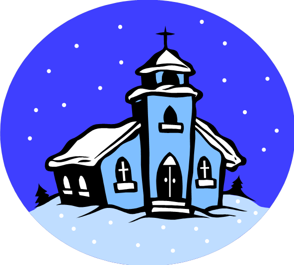 Winter clipart church scene – Clip Art Download Church