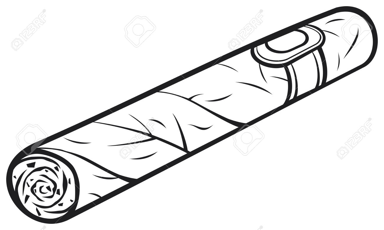 Cigar clipart black and white Cartoon and Cuban Cigar clipart