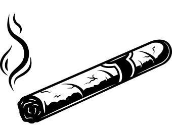 Cigar clipart black and white Etsy collection Cigar Cigar and
