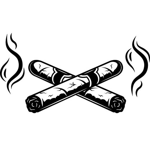 Cigar clipart blunt Tobacco Bar Crossed Cut Vector