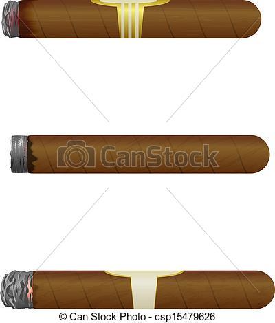 Cigar clipart cuban cigar On Cuban on Isolate Vector