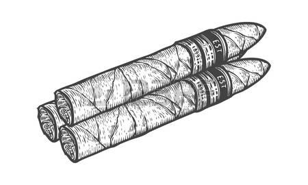 Drawn cigarette cigar #12
