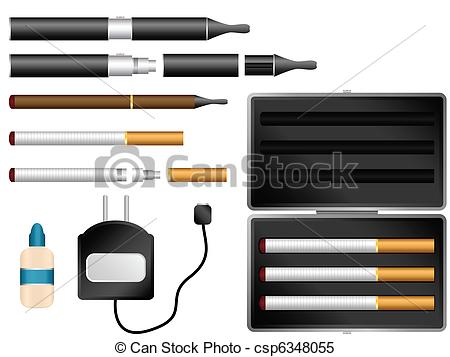 Cigar clipart e cigarette  Vector Cigarette Electronic Kit