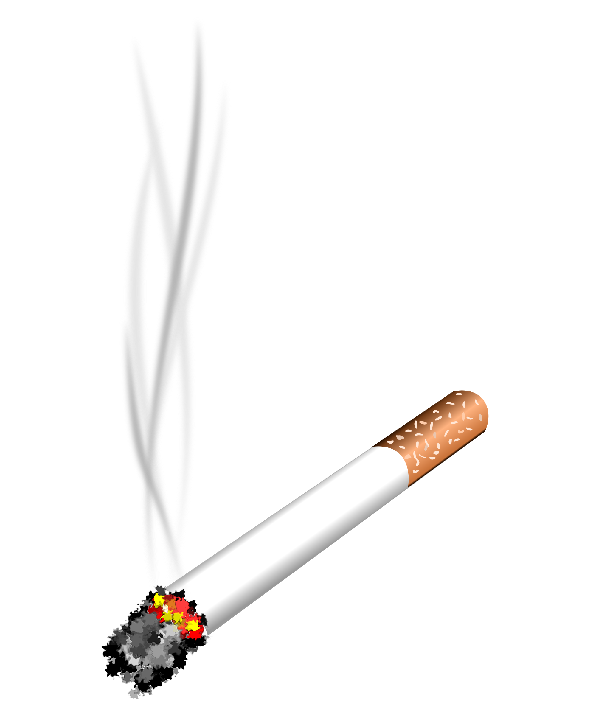 Drawn cigarette transparent background #7