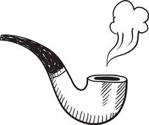 Cigar clipart smoking pipe Sketch Clipart Tobacco Clipart Clipart