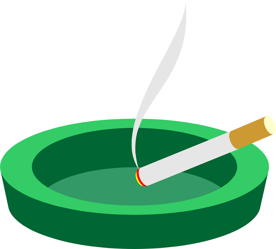 Cigarette clipart ashtray Cigarette a an in an