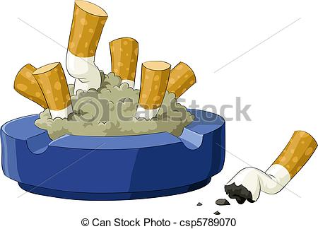 Cigarette clipart ashtray  Vector of Ashtray An