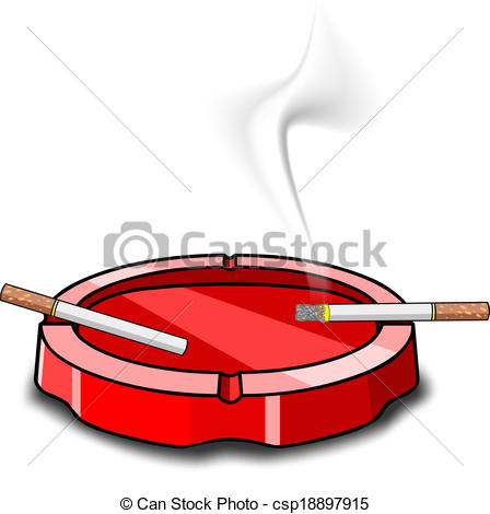 Cigarette clipart ashtray With ashtray cigarettes Vector Clip