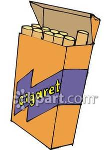 Cigarette clipart cigar Sticking One Cigarette box collection