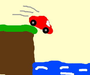 Cilff clipart car Red water grassy Hover Junkies