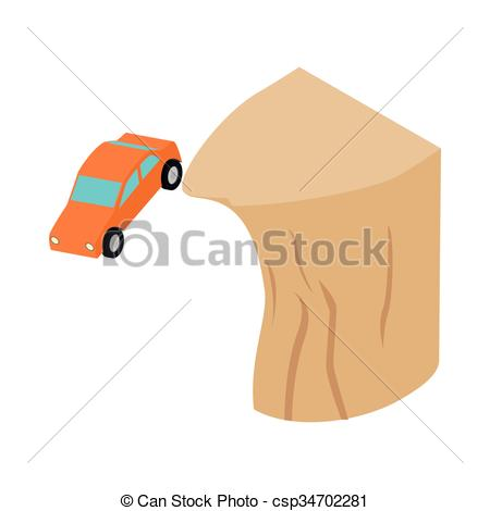Cilff clipart car Off isometric a isometric icon