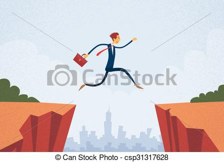 Cilff clipart gap Gap Gap Businessman Businessman Illustration