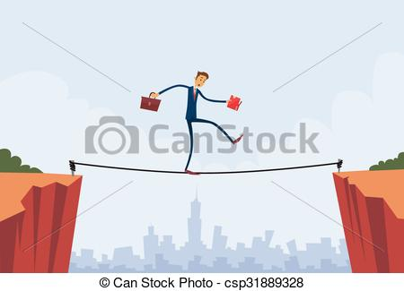 Cilff clipart gap Gap Walk Businessman Vector Balancing