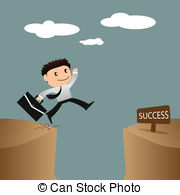 Cilff clipart gap Images businessman success over Vector