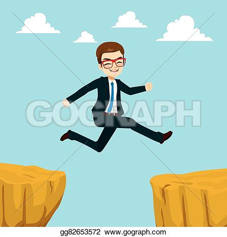 Cilff clipart gap Happy EPS Vector through suit