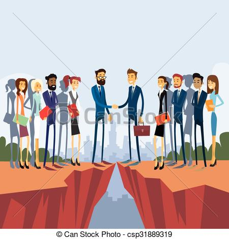 Cilff clipart gap Gap Cliff Businessman of Clip