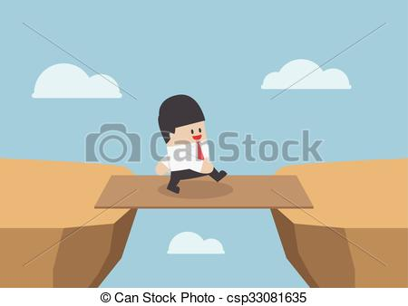 Cilff clipart gap Gap Businessman Businessman bridge as