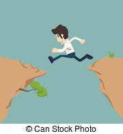 Cilff clipart gap Illustration gap Businessman jumping