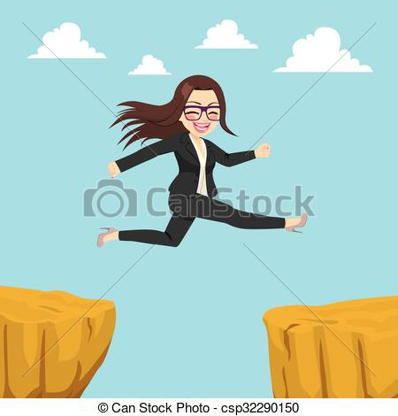 Cilff clipart gap Clipart Businesswoman Illustration Cliff Businesswoman