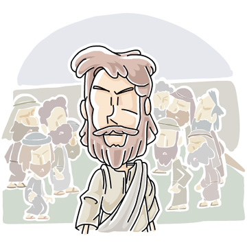 Crowd clipart abstract Christian Jesus the the walked