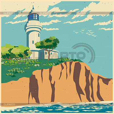 Lighhouse clipart cliff Stock Clipart CLIPARTO and lighthouse