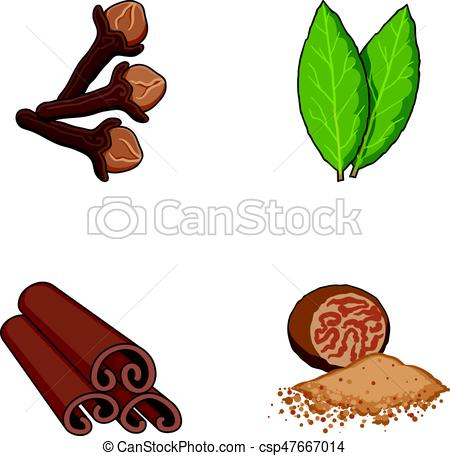 Herbs clipart teapot Cinnamon Vector of  icons
