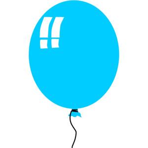 Circle clipart balloon Blue clip domain public fat