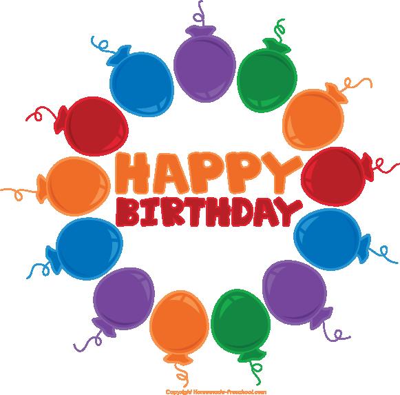 Circle clipart balloon Happy Birthday Free Clipart