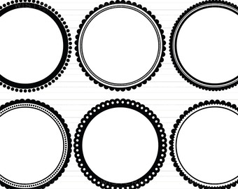 Circle clipart fancy Clipart Fancy Circle Scalloped cliparts