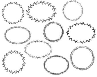 Circle clipart fancy Clipart Etsy Screpbooking Fancy Drawn