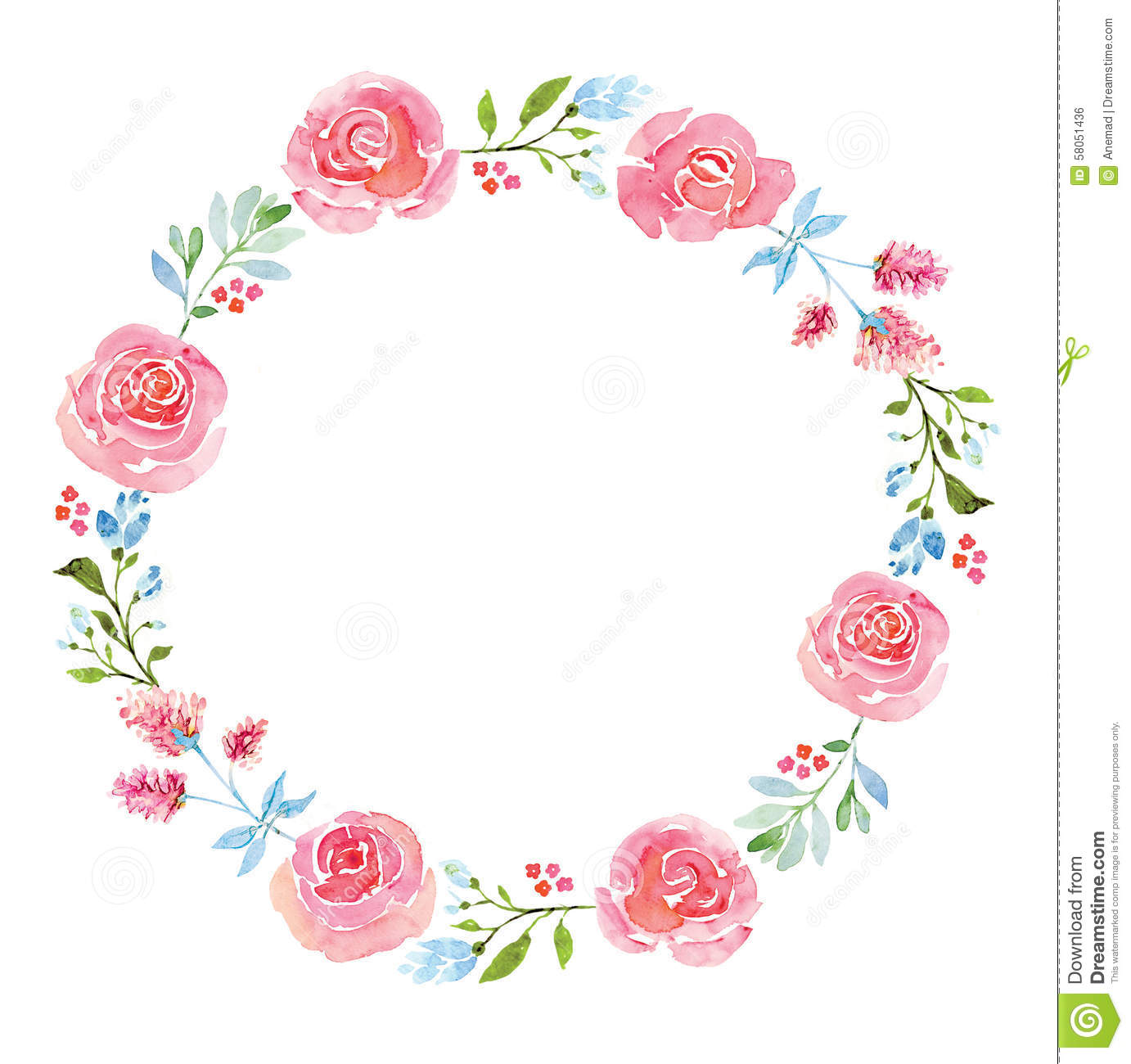 Circle clipart floral Image Image Beautiful  Stock