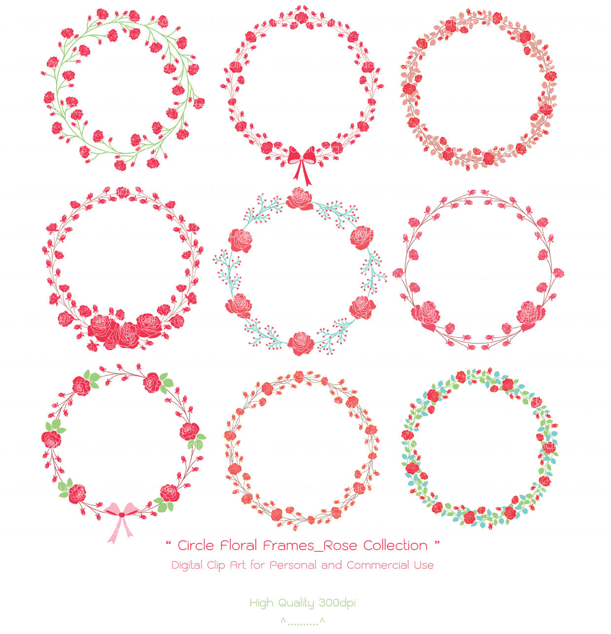 Circle clipart floral Floral  Collection Roses Floral