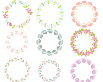 Circle clipart light pink Hearts Wreaths Purple 9 Images