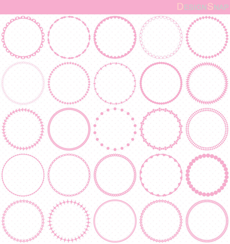 Circle clipart light pink Circle is Pink Frames Frame
