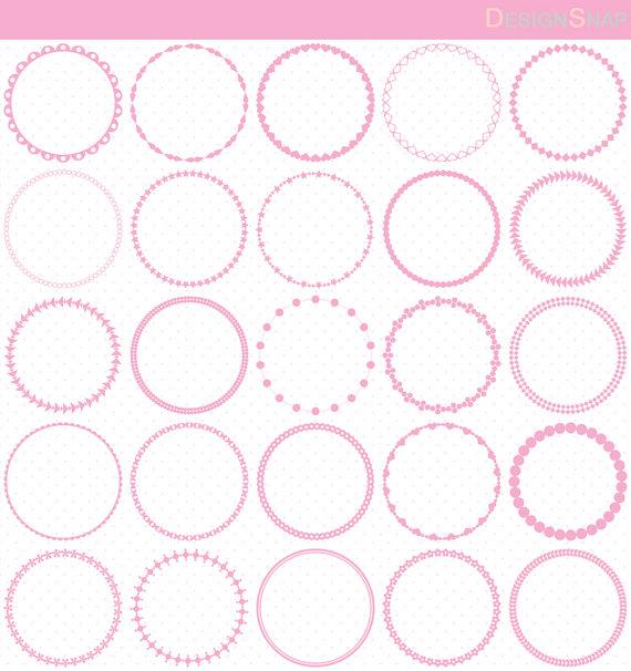 Circle clipart light pink Circle Clip Art Light Circle