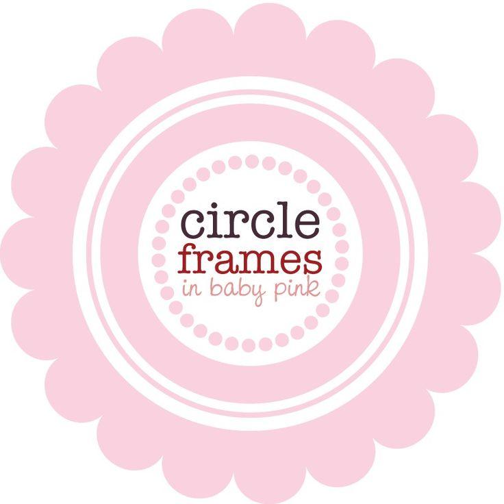 Circle clipart light pink On frames images Pinterest 61
