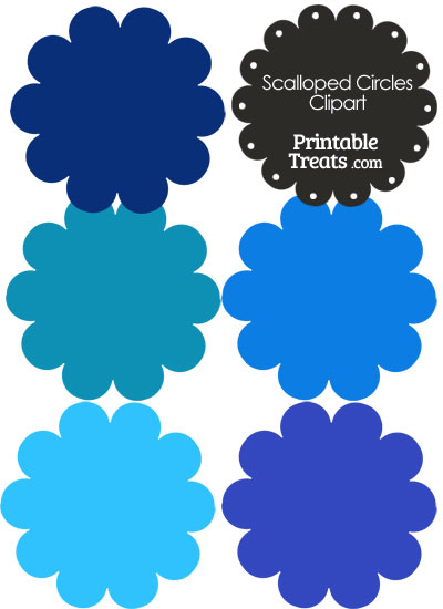 Circle clipart navy blue From Clipart Scalloped Clipart com