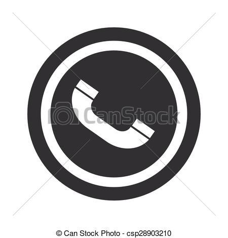 Circle clipart phone Image Vector call Round receiver