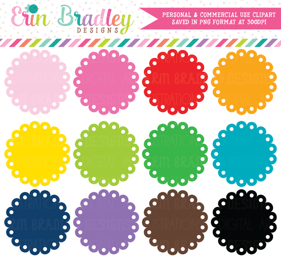 Circle clipart scalloped circle Designs: clipart New graphics! Bradley