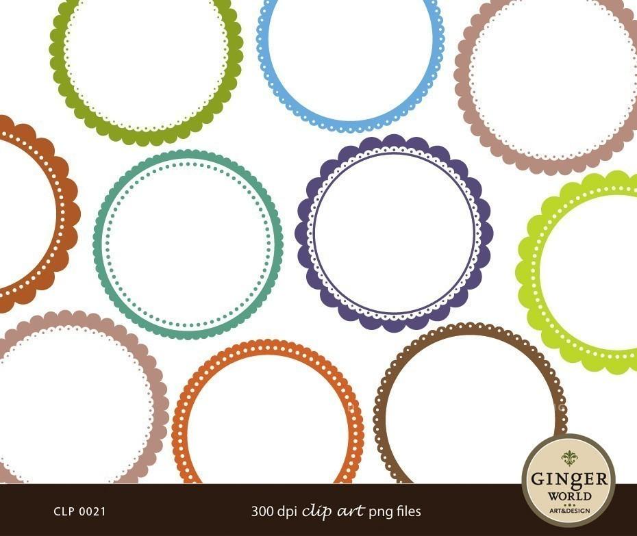 Circle clipart scalloped circle Art Lace SCALLOP Scallop Clip