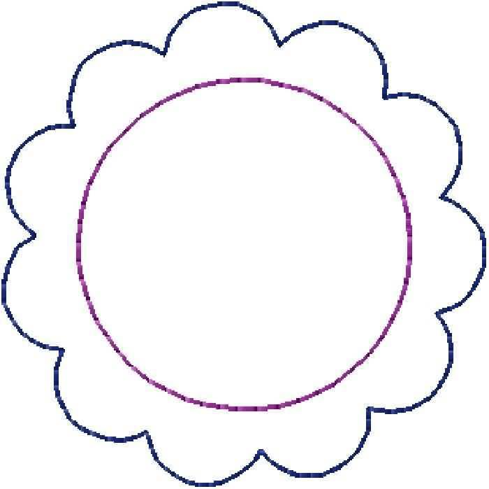 Circle clipart scalloped circle Clipart Clipart Download Turquoise Circle
