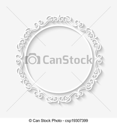 Circle clipart vector  white frame vintage Vector