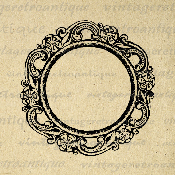 Circle clipart fancy Illustration Print No Banner Art
