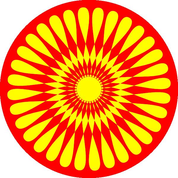 Circle clipart yellow circle Flower vector Art Clker art