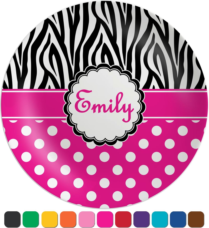 Circle clipart zebra print Zebra (Personalized) Print & Melamine