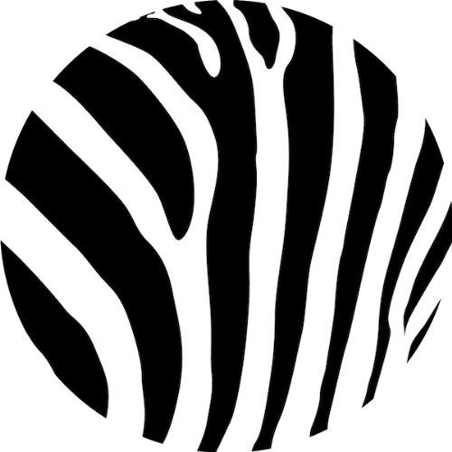 Circle clipart zebra print Amazon Decoration: com:  Dining