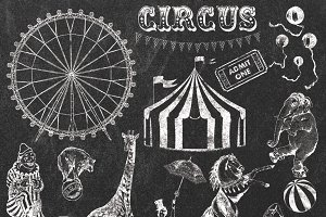 Balloon clipart chalkboard Market  CIRCUS Creative CHALK